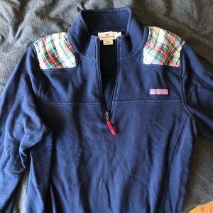 Vineyard vines navy holiday shep shirt